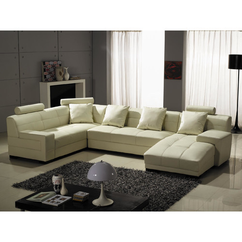 Orren Ellis Beideman Leather Sectional