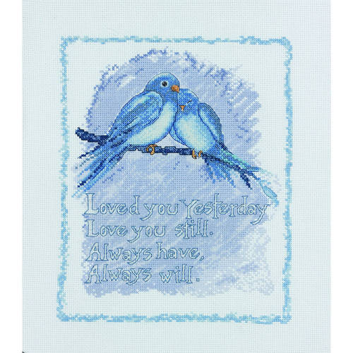 """Bucilla   Counted Cross Stitch Picture Kit by Plaid, Love You Always, 8"""" x   10"""""""