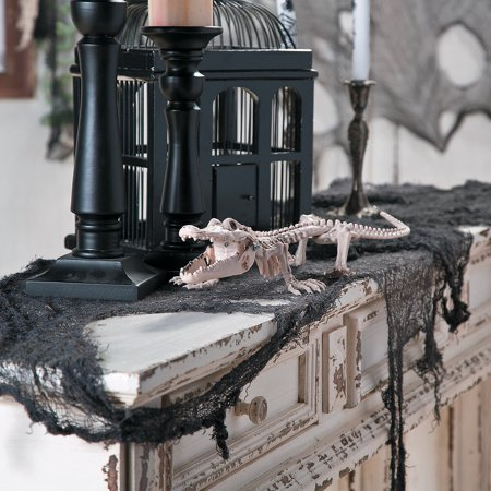 Fun Express - Halloween Skeleton Crocodile for Halloween - Home Decor - Decorative Accessories - Home Accents - Halloween - 1 Piece - Holloween Express