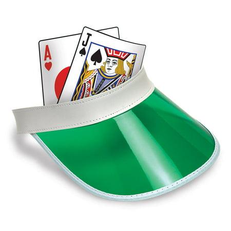 Las Vegas Blackjack Dealer Bingo Plastic Clear Visor Hat Fear & Loathing - Green Classic Visor