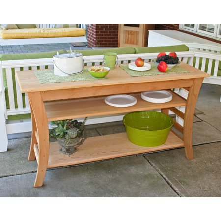 """Creekvine Designs Red Cedar With Cedar Sealer / Stained 58"""" Entertaining Buffet Table Made In USA"""