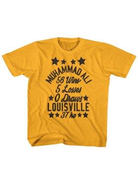 Muhammad Ali Stars Gold Youth T-Shirt Tee