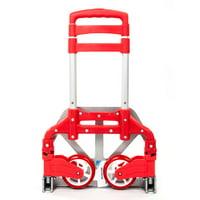 Ktaxon Aluminum Folding Portable Luggage Cart, Heavy Duty Hand Truck Dolly Push Trolley, w/ 2 Wheels, for Shopping Industrial Travel Use, 170 lbs