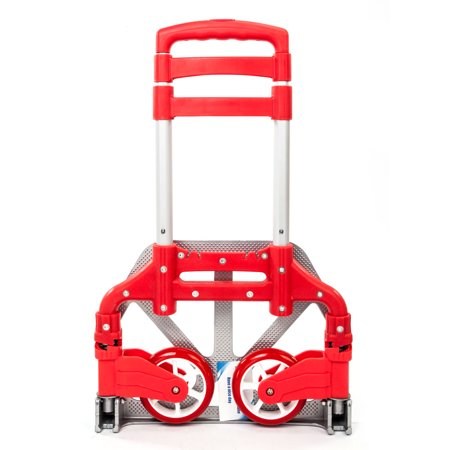 575a61c2a027 Ktaxon Aluminum Folding Portable Luggage Cart, Heavy Duty Hand Truck Dolly  Push Trolley, w/ 2 Wheels, for Shopping Industrial Travel Use, 170 lbs