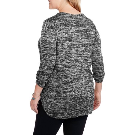 Faded Glory Women's Plus-Size lightweight Shirt Tail Top