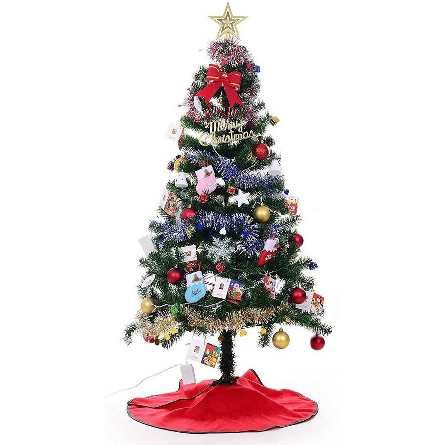 Xmas Finest 4' Super Premium Artificial Charlie Pine Christmas Tree with Metal Legs, Fullest (300 Tips) Design