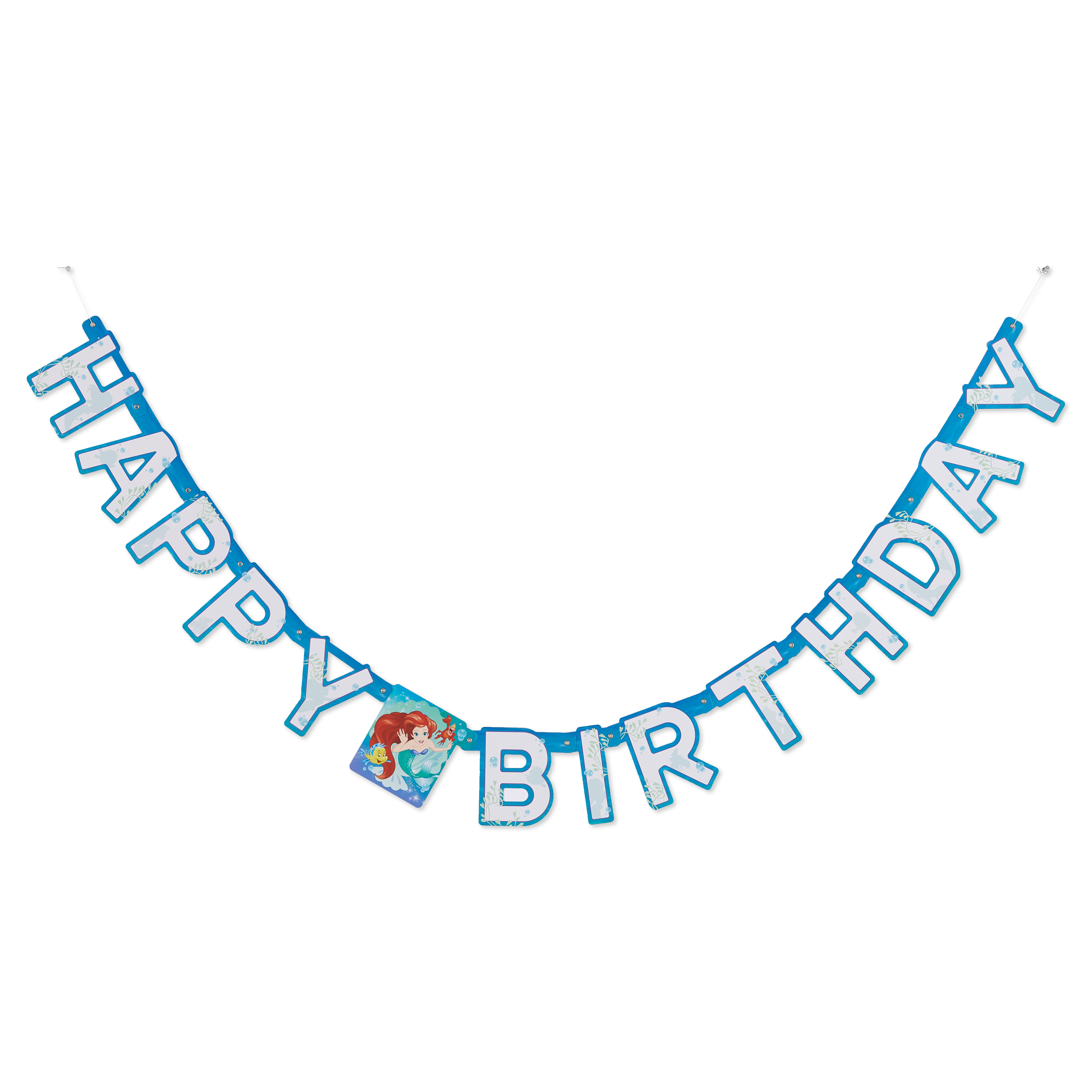The Little Mermaid Ariel Birthday Party Banner, 6.59 ft.