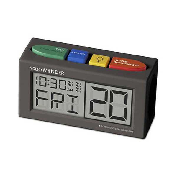 MedCenter Your Minder Recording Clock - Clock w/ Adapter