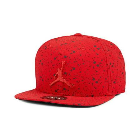 170ccb3007c52 Jordan - Nike Mens Jordan Speckle Print Snapback Hat Black Silver ...