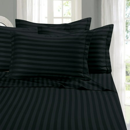 Elegant Comfort #1 Bed Duvet Cover Set  - Super Silky Soft - 1500 Thread Count Egyptian Quality Luxurious Wrinkle, Fade, Stain Resistant 3-Piece STRIPE Duvet Cover Set, King/Cal-King,