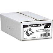 Handi-Bag Fold Lock Jumbo Sandwich Bags, 2000ct