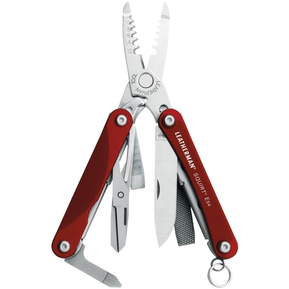 Leatherman 831197 Squirt ES4 Keychain Multipurpose Tool Red