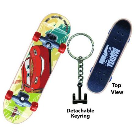Disney Cars 2 Mcqueen Skateboard Key Ring
