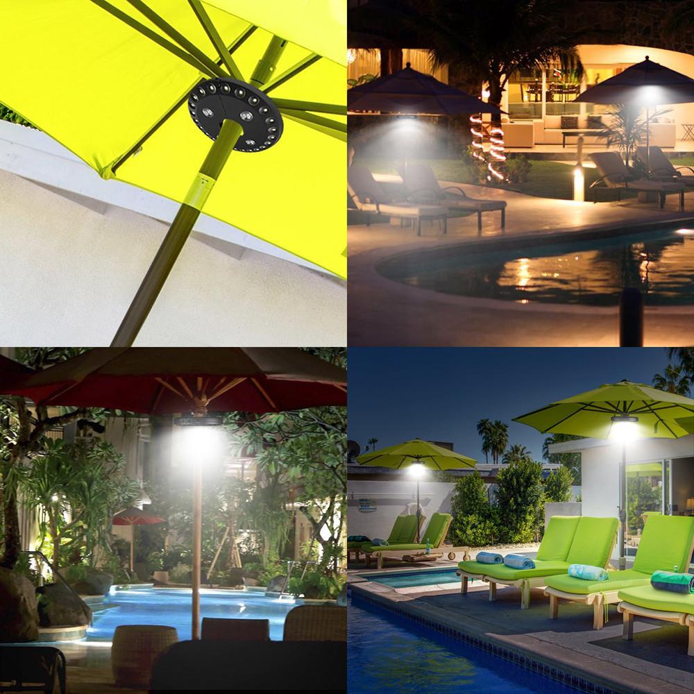Patio Umbrella Light Cordless 28 LED Lights Outdoor Camping Umbrella Pole Light