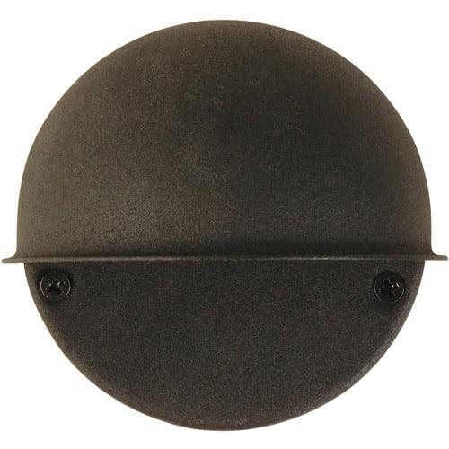 Moonrays 95732 Low Voltage 7-Watt 12-Volt Metal Flush Mount Circular Surface Light, Black Finish