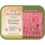 Butterball Farm to Family All Natural Ground Turkey 16 oz. Tray