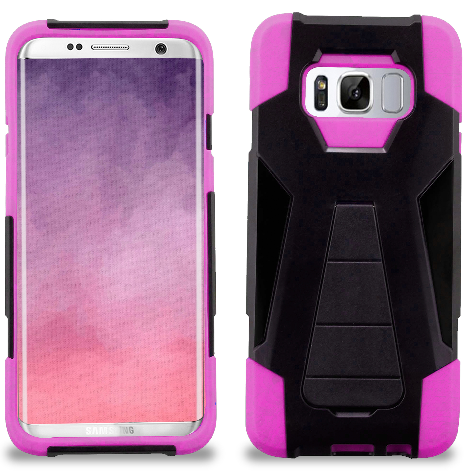 Samsung Galaxy S8 / S8 Plus Case, Zizo Dual Layer - Slim Fit Case w/ Kickstand