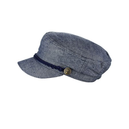 d2311db4fec NYFASHION101 Unisex 100% Cotton Greek Fisherman Sailor Fiddler Driver Cap  Hat