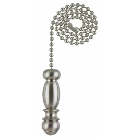 Brushed Nickel Finish Pendant Pull Chain Brushed Pewter Pull Chain