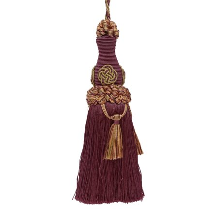 "Decorative 6"" Key Tassel / PLUM OLIVE GREEN / Baroque Collection Style# BKT Color: PLUM OLIVE - 7346"