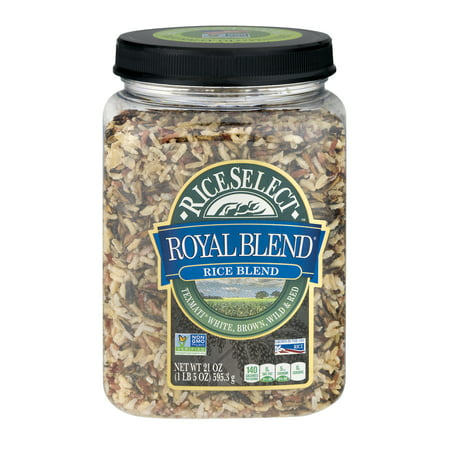- RiceSelect Original Royal Blend Rice with Texmati White, Brown, Wild & Red Rice, 32-Ounce Jar