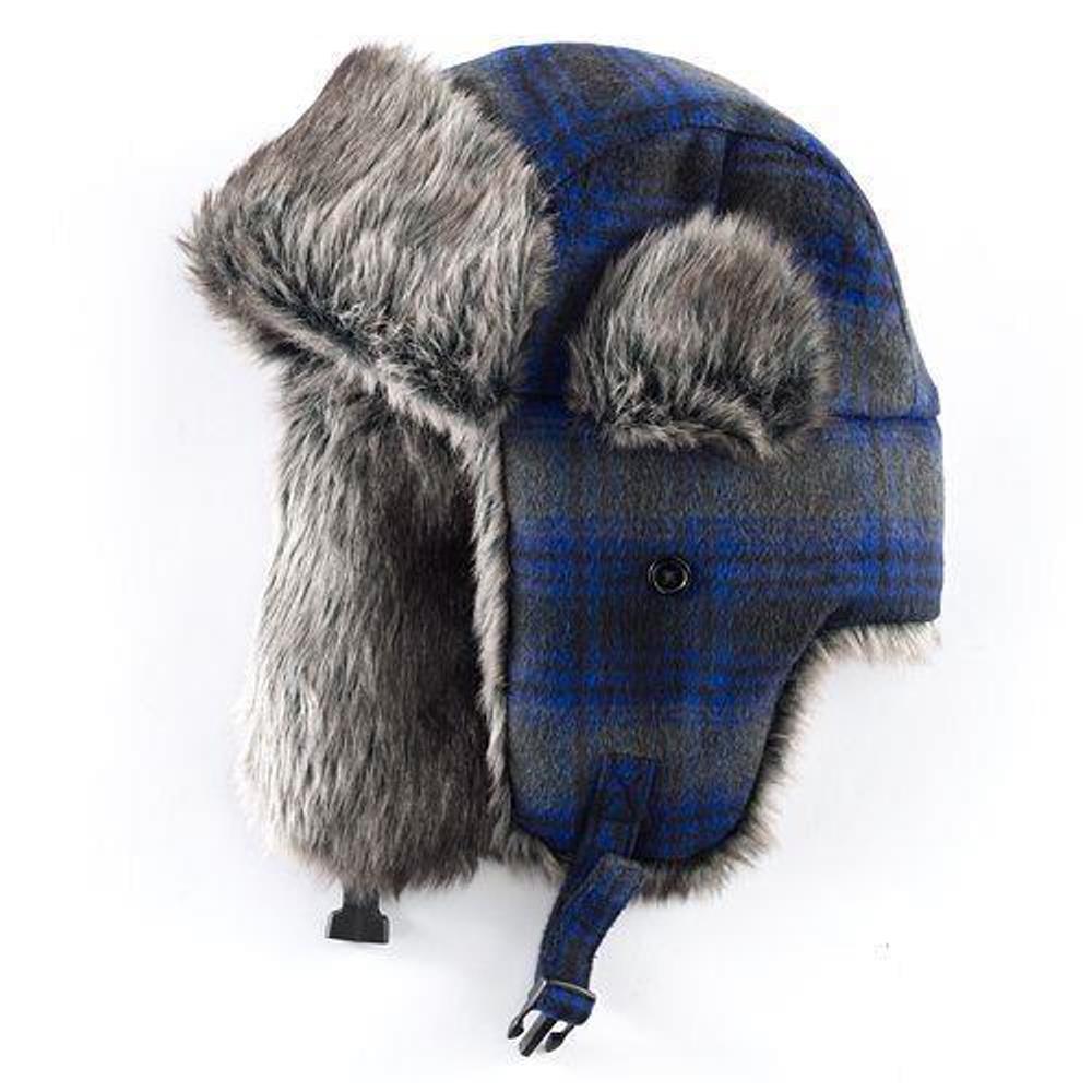 One Size Fits All Apt 9 Wool Blend Trapper Faux Fur Hat For Men in Black