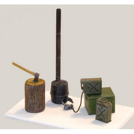 Plus Model 1:35 US Tent Stove Resin & PE Diorama Accessory #419