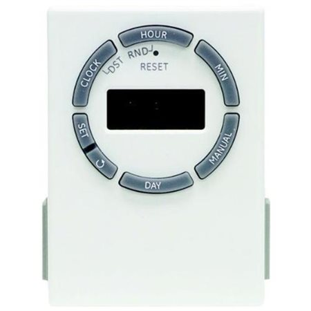 GE 7 DAY TIMER 2 OUTLET        ACCSGROUNDED WHITE - 15079