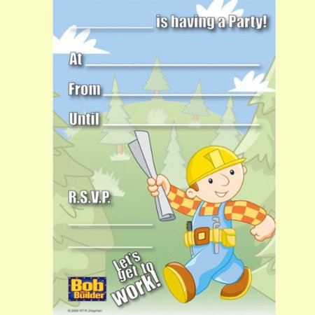 Bob the Builder Invitations w/ Env. (20ct)