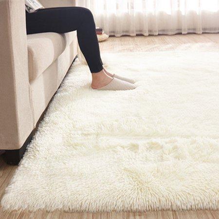 4 Sizes Comfortable Soft Floor Rug Plush Shag Shaggy Area