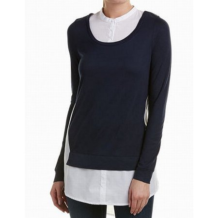 8ea8874f1fc1fc French Connection Tops & Blouses - White Womens Medium Layered Blouse M -  Walmart.com