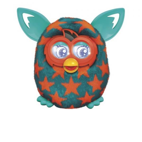 Furby Boom Orange Stars Plush Toy by