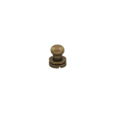 """Tandy Leather Button Stud 3/8"""" (10mm) Screwback Nickel Free Antique Brass Plate 11311-20"""