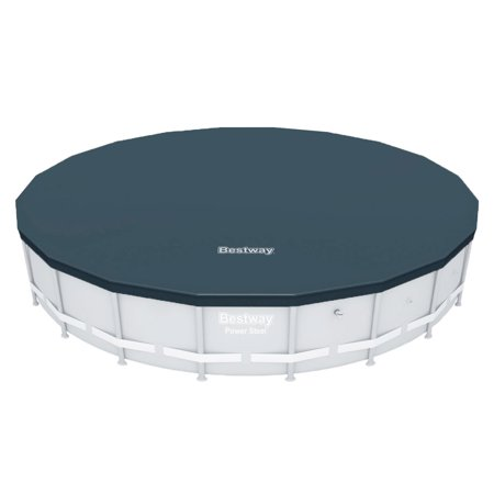 Bestway 58356E Round PVC 20 Foot Pool Cover for Above Ground Pro Frame