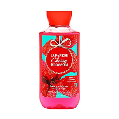 bath & body works, signature collection shower gel, japanese cherry blossom, 10 ounce