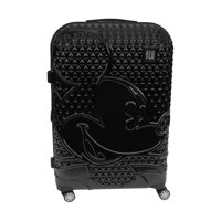 FUL Disney Textured Mickey Mouse 29in Hard Sided Rolling Luggage, Black