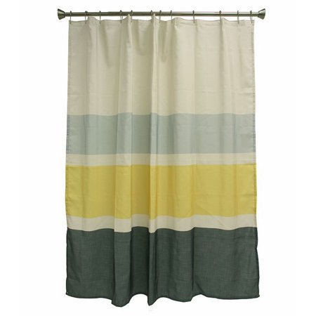 Bacova Parkside Shower Curtain Yellow Gray Striped Bath