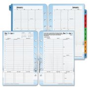 """37624 Franklin Covey Seasons Planner Refill - Weekly - 5.50"""" x 8.50"""" - 1 Year - January till December - 8:00 AM to 8:00 PM 1 Week Double Page Layout - White, Light Blue, Black"""