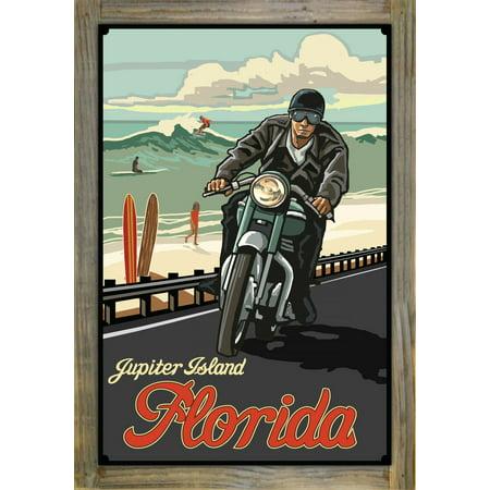 "Jupiter Island Florida Metal Print on Reclaimed Barn Wood by Paul A. Lanquist (12"" x 18"")"