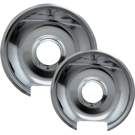Range Kleen 2-Piece Drip Pan, Style E fits Hinged Electric Ranges Amana/Frigidaire/Maytag/Whirlpool, Chrome (Whirlpool 30 Electric Range)