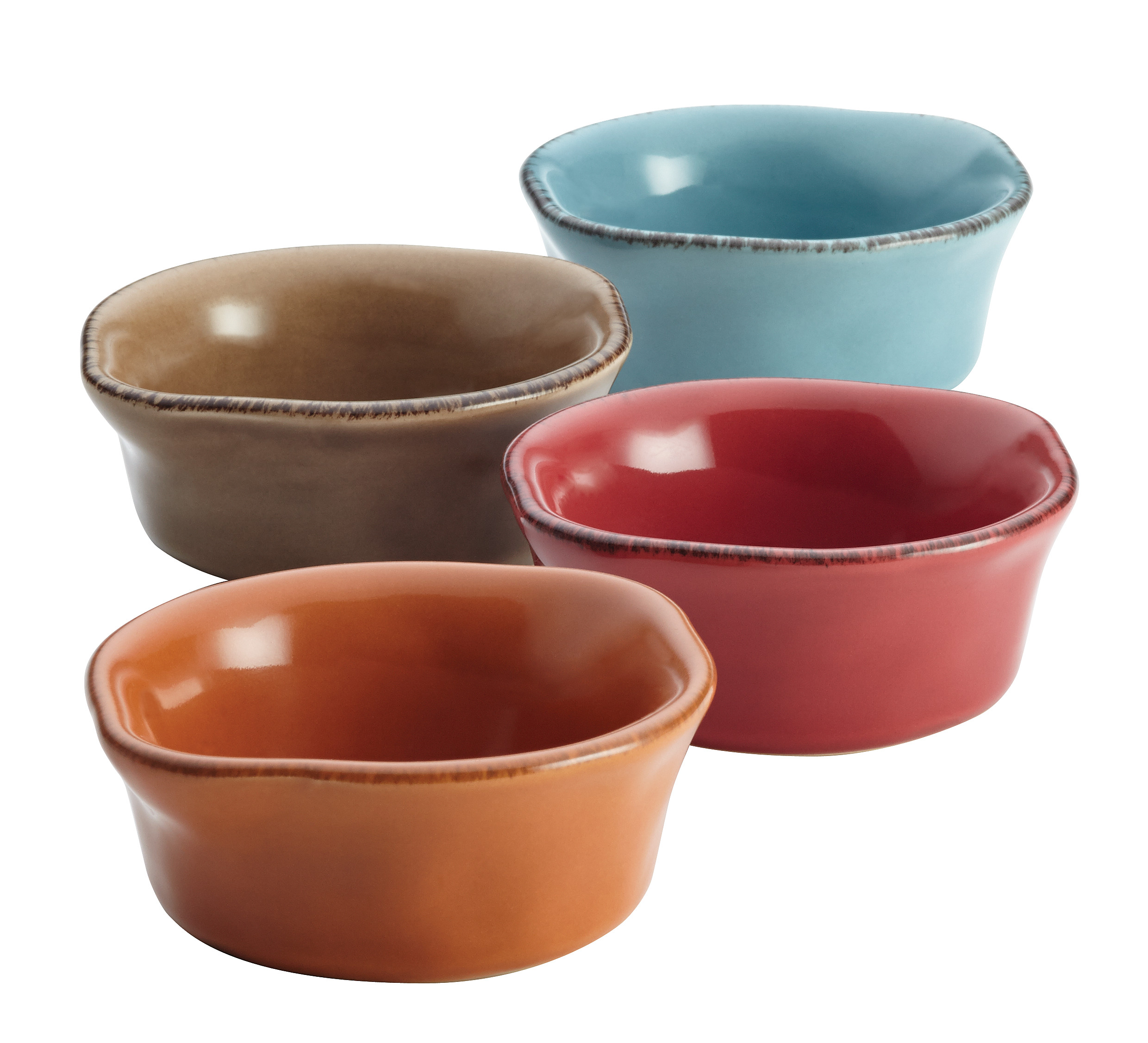 Rachael Ray Cucina Stoneware 4-Piece Dipping Cup Set, Assorted