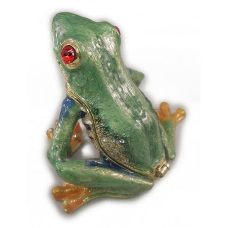 Frog Jewelry - Sea Creations Tree Frog Jewelry Box 2