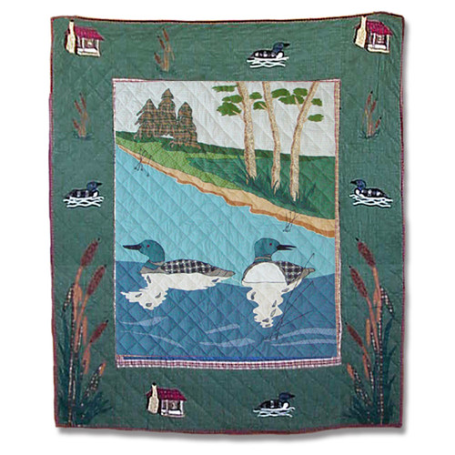 Patch Magic Loon Cotton Throw Quilt
