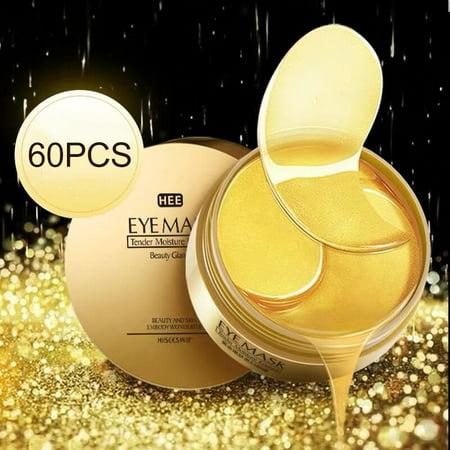 24k Gold Gel Collegan Eye Mask Hydrating Firming Skin Remove Dark Circles Eye Bags Anti-Aging Eye Pads For All skin