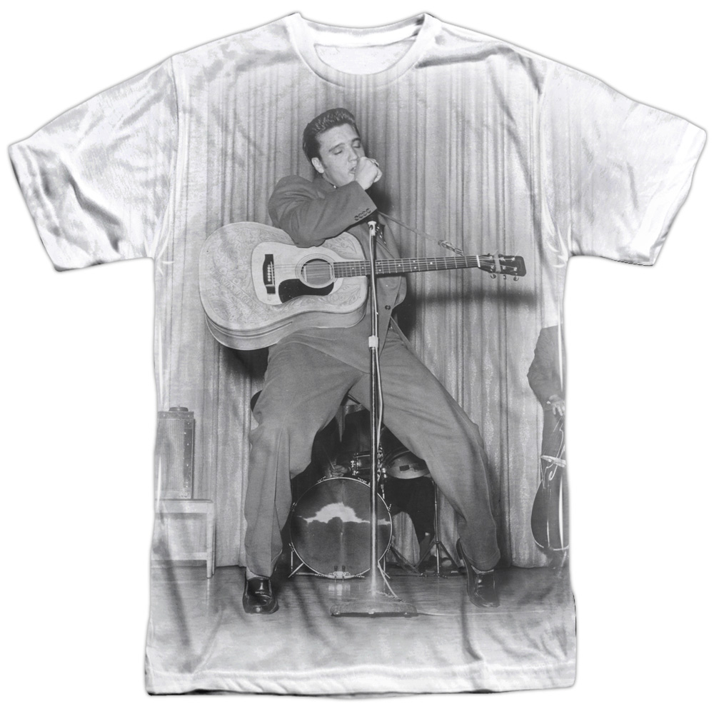 Elvis On His Toes Adult Work Shirt
