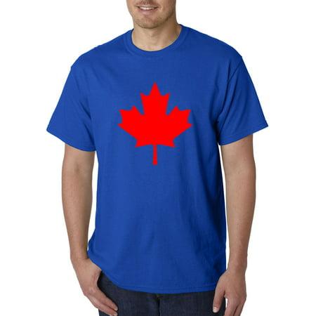 Trendy USA 1287 - Unisex T-Shirt Canadian Maple Leaf Flag Heritage Canada Eh 4XL Royal Blue Canada Unisex T-shirt