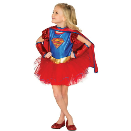 Supergirl Child Deluxe Tutu Dress Halloween Costume](Supergirl Tutu Costume)
