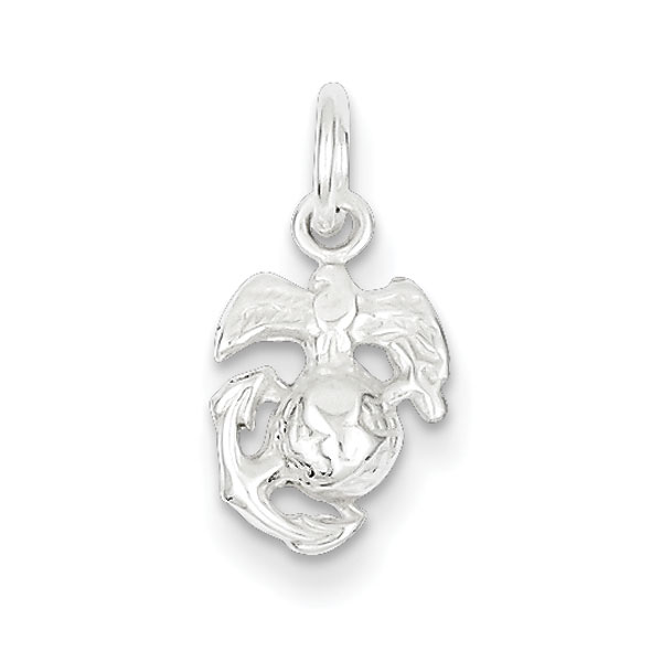 Sterling Silver Marine Corps Emblem Charm