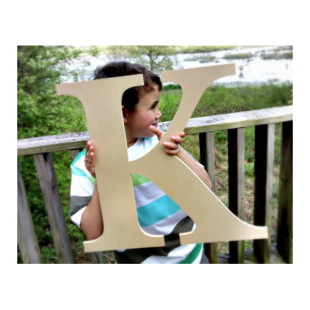 Letter K Craft (Wood Craft Letter Times K 4'' Unfinished Wooden Wall)