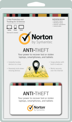 Norton Antitheft 10 User Clamshell PT 21223852 by SYMANTEC FG RETAIL